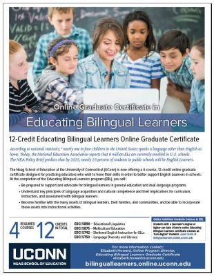 UConn Online Graduate Certificate in Educating Bilingual Learners